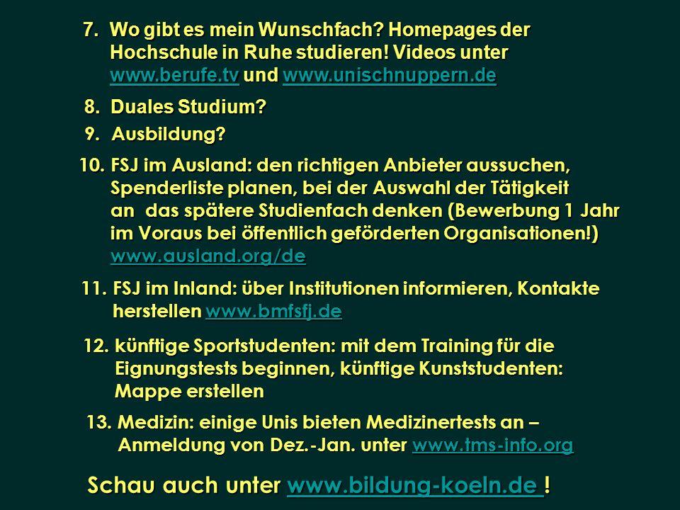 Schau auch unter www.bildung-koeln.de !