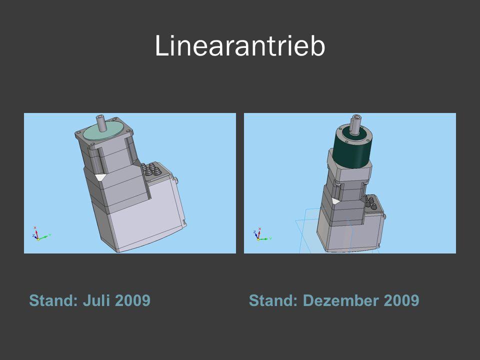 Linearantrieb Stand: Juli 2009 Stand: Dezember 2009