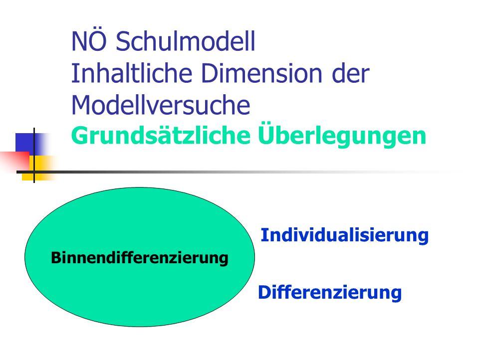 Individualisierung Differenzierung