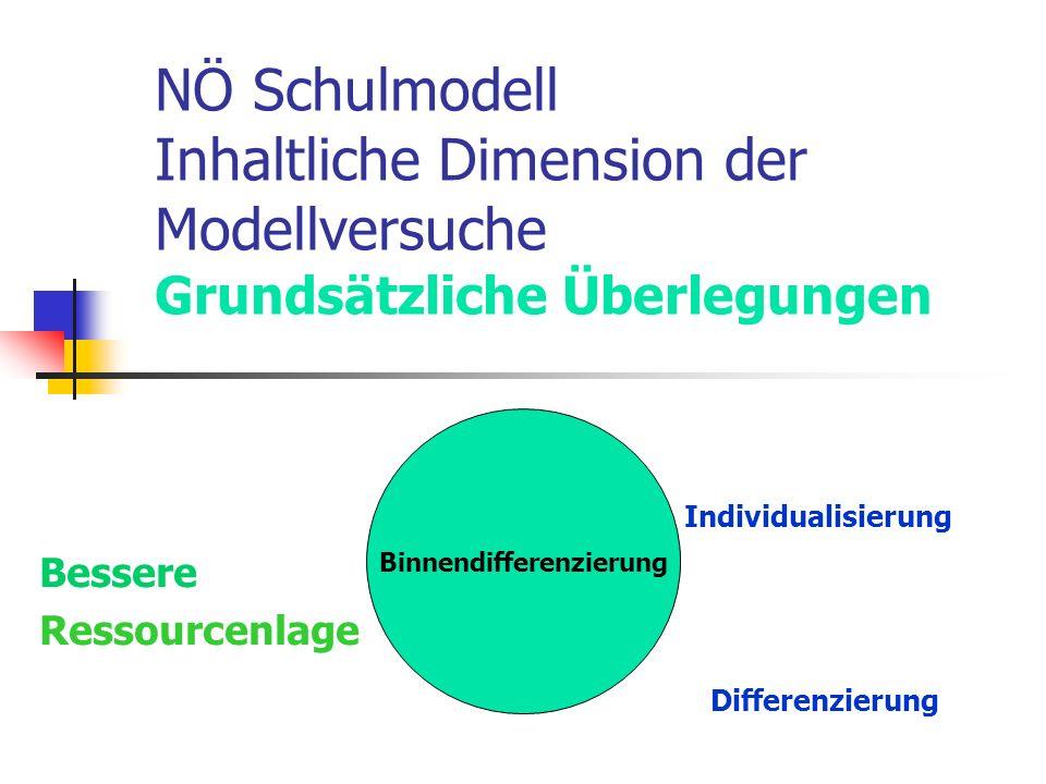 Individualisierung Bessere Ressourcenlage Differenzierung