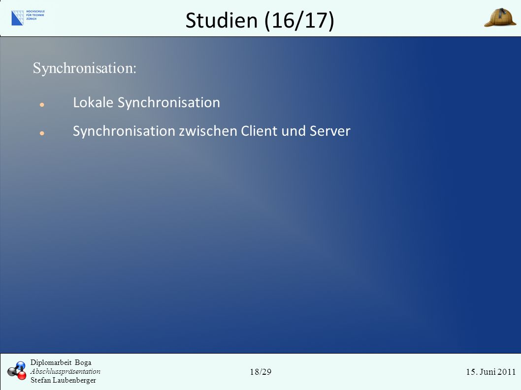 Studien (16/17) Synchronisation: Lokale Synchronisation