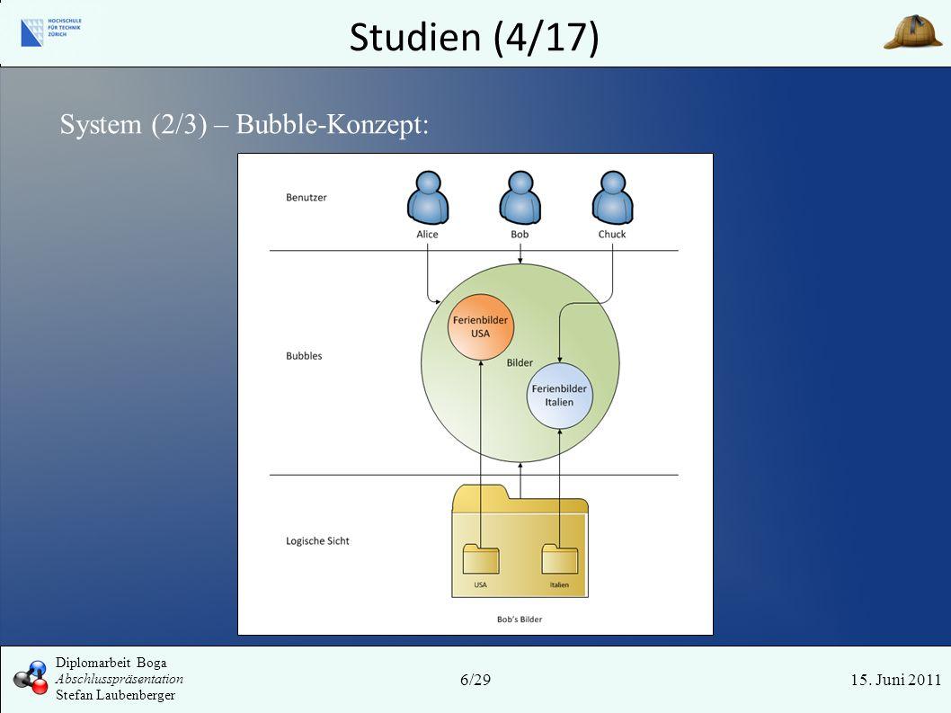 Studien (4/17) System (2/3) – Bubble-Konzept: Tyr 6/29 15. Juni 2011