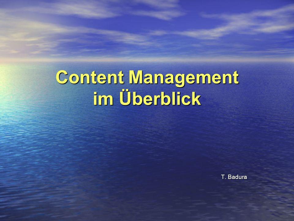 Content Management im Überblick