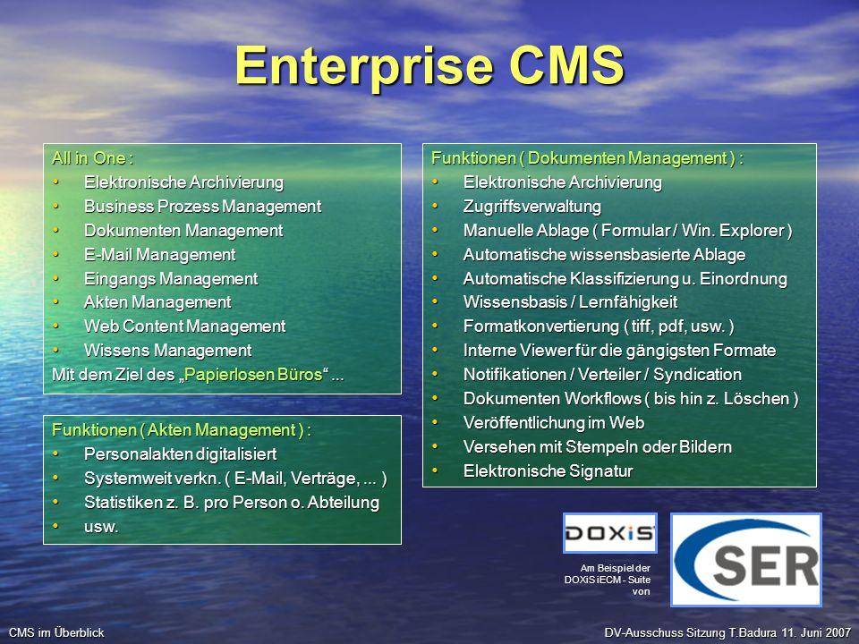 Enterprise CMS All in One : Elektronische Archivierung