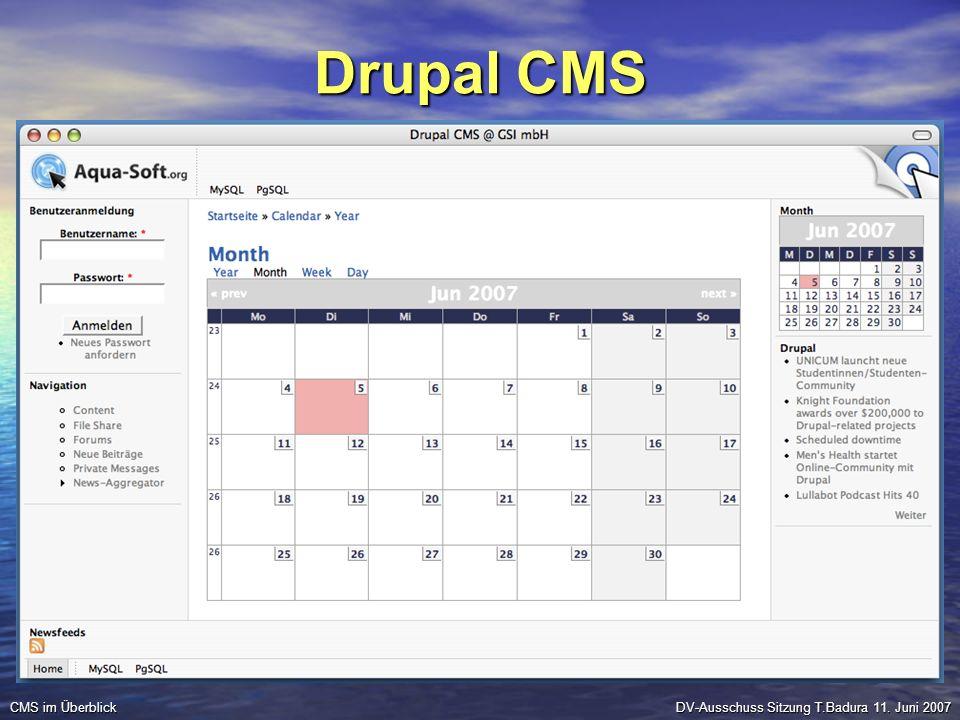 Drupal CMS CMS im Überblick