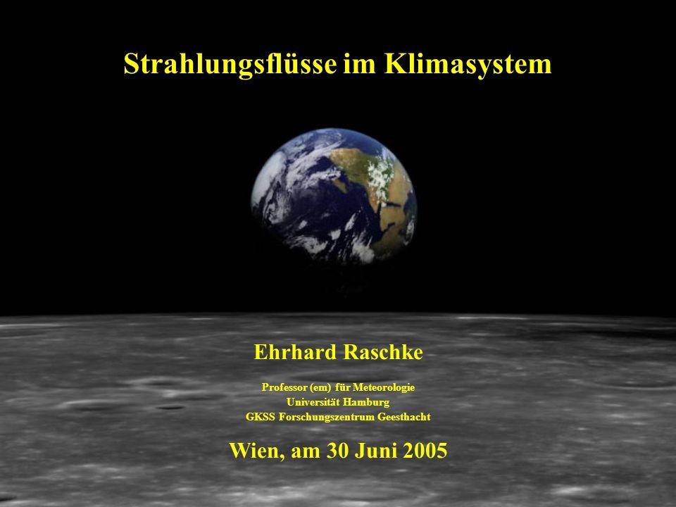 Strahlungsflüsse im Klimasystem