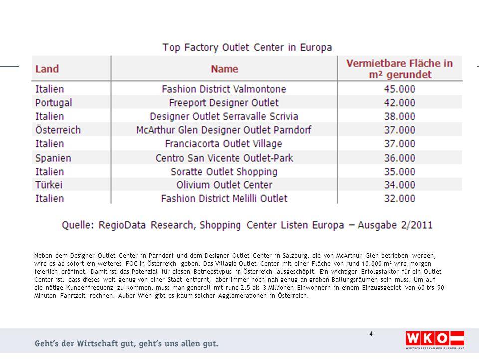 Neben dem Designer Outlet Center in Parndorf und dem Designer Outlet Center in Salzburg, die von McArthur Glen betrieben werden, wird es ab sofort ein weiteres FOC in Österreich geben.