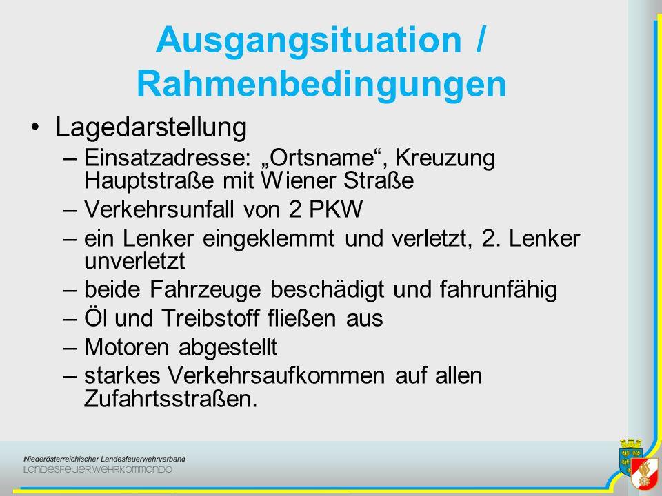 Ausgangsituation / Rahmenbedingungen