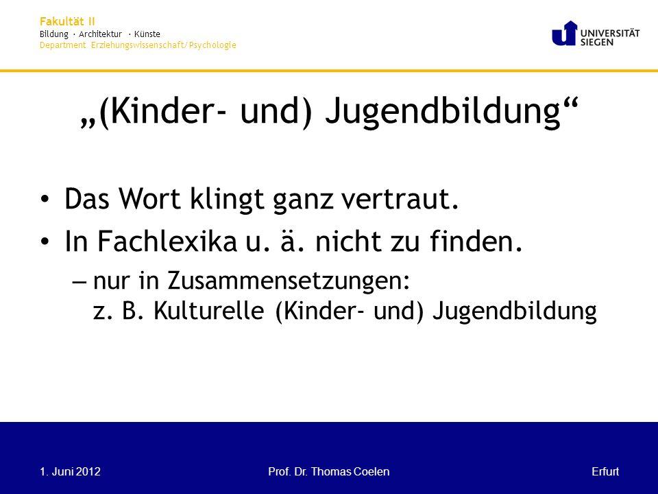 """""""(Kinder- und) Jugendbildung"""