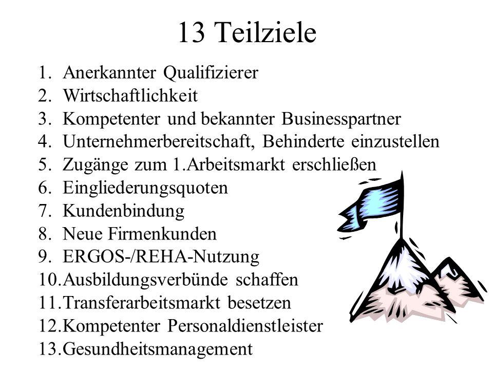 13 Teilziele Anerkannter Qualifizierer Wirtschaftlichkeit