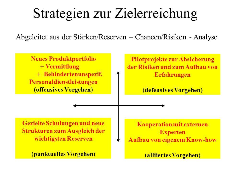Strategien zur Zielerreichung