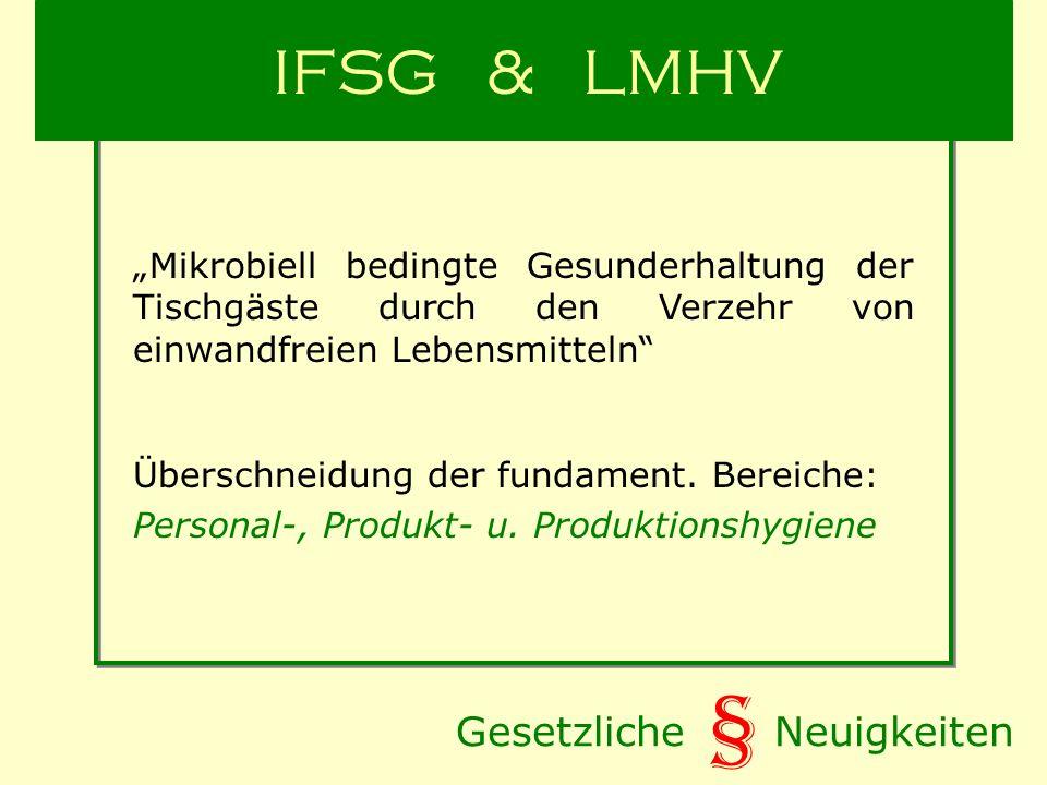 § IFSG & LMHV Gesetzliche Neuigkeiten