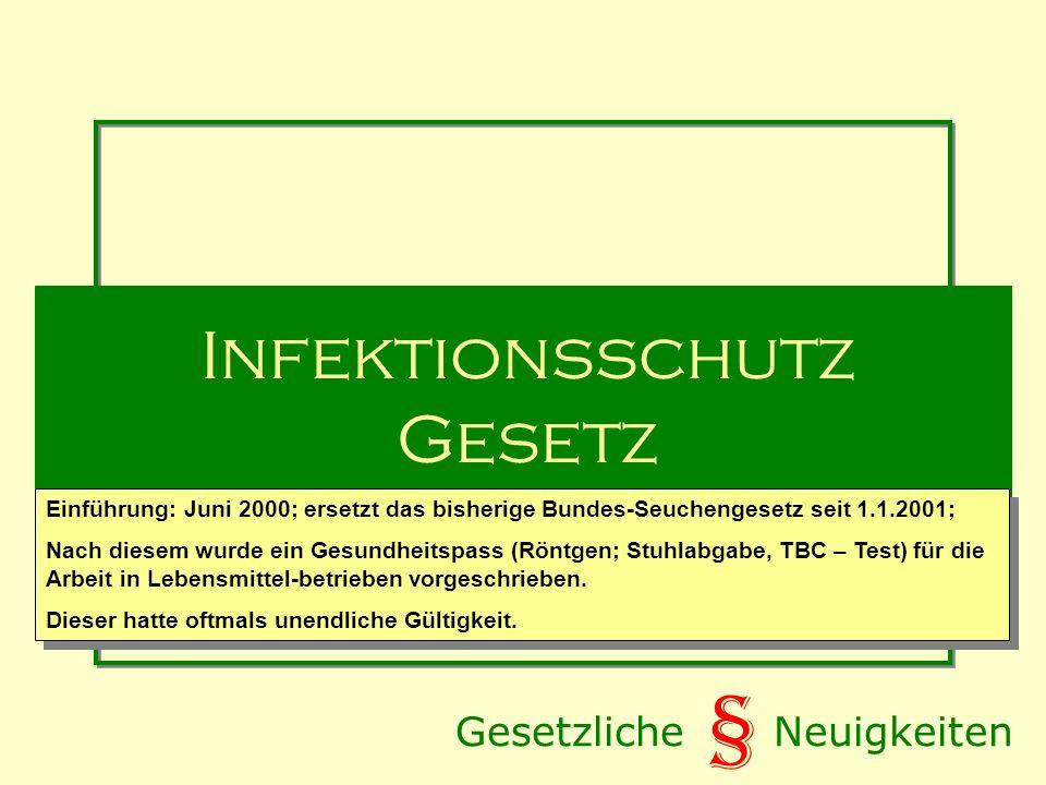 Infektionsschutz Gesetz