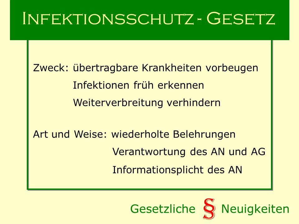 Infektionsschutz - Gesetz