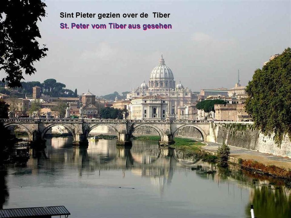 Sint Pieter gezien over de Tiber