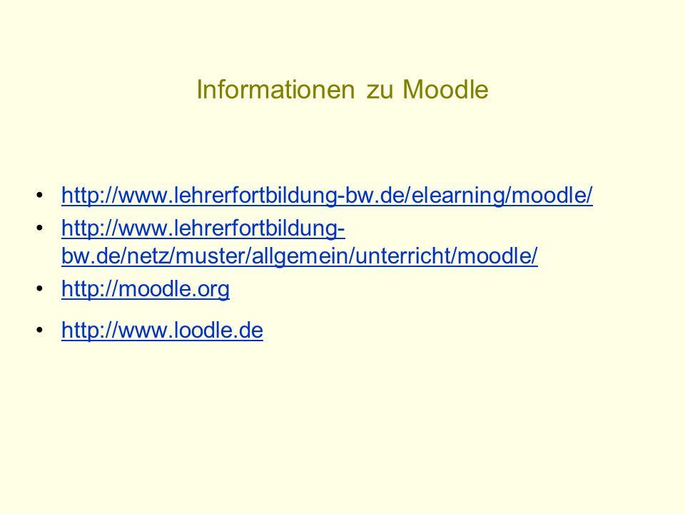 Informationen zu Moodle
