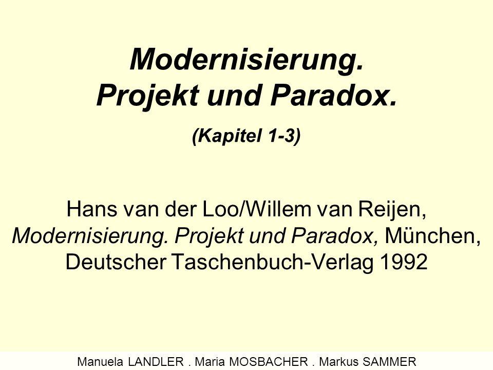 Modernisierung. Projekt und Paradox. (Kapitel 1-3)