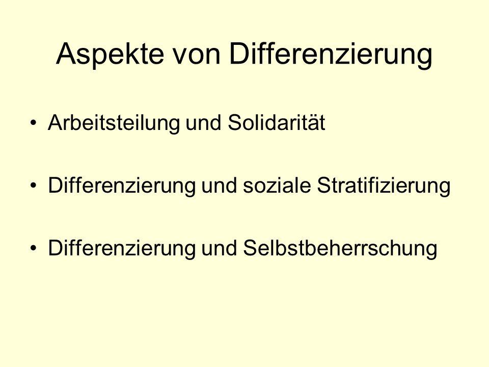 Aspekte von Differenzierung