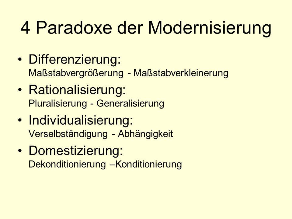 4 Paradoxe der Modernisierung