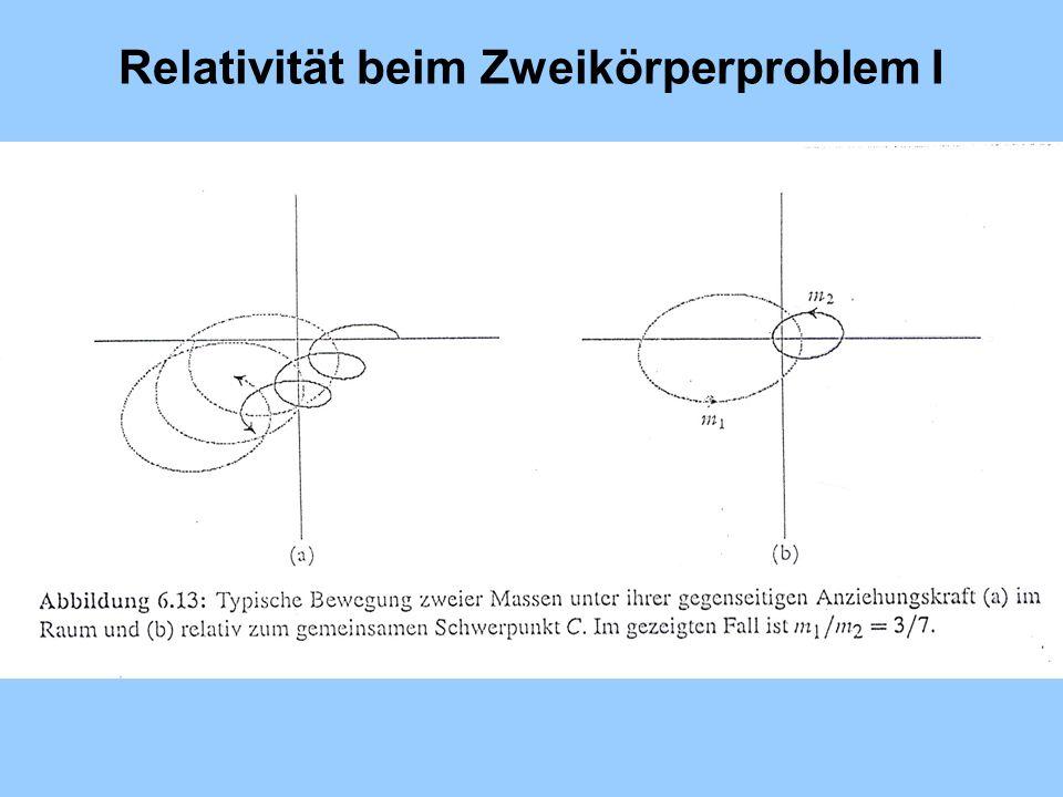 Relativität beim Zweikörperproblem I