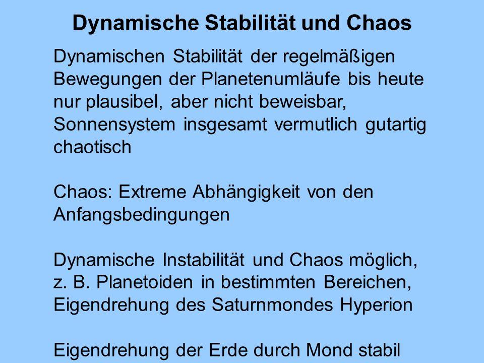 Dynamische Stabilität und Chaos