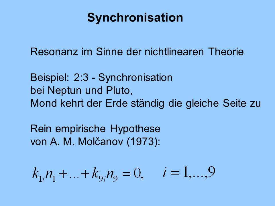 Synchronisation Resonanz im Sinne der nichtlinearen Theorie