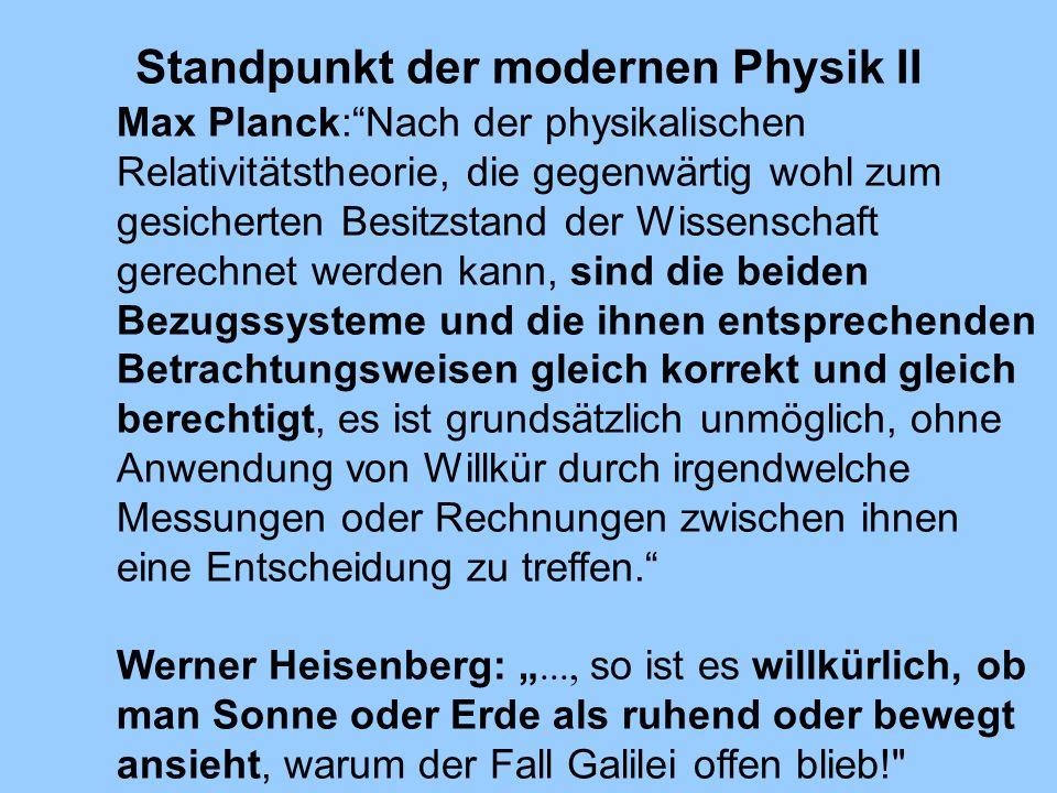 Standpunkt der modernen Physik II