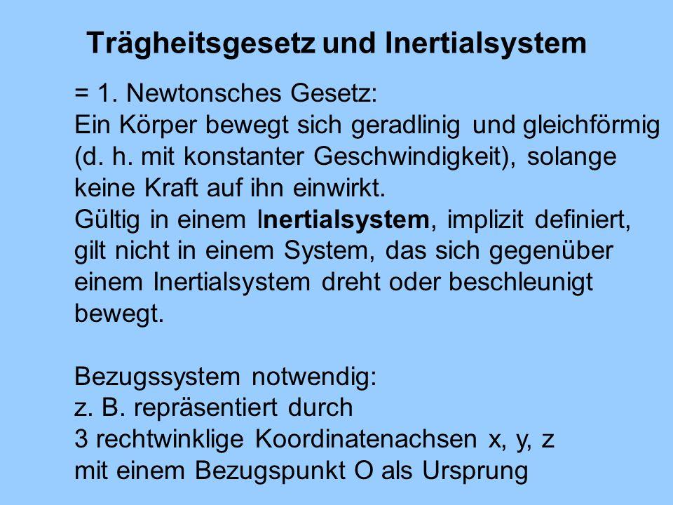 Trägheitsgesetz und Inertialsystem
