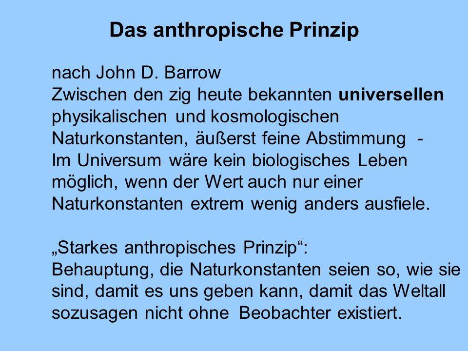 Das anthropische Prinzip