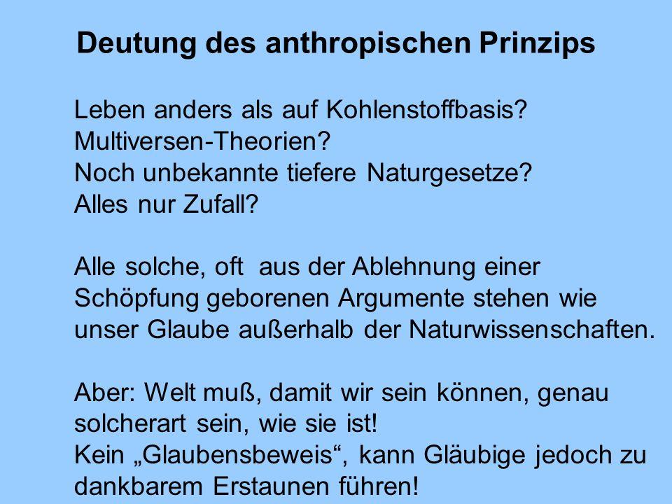 Deutung des anthropischen Prinzips