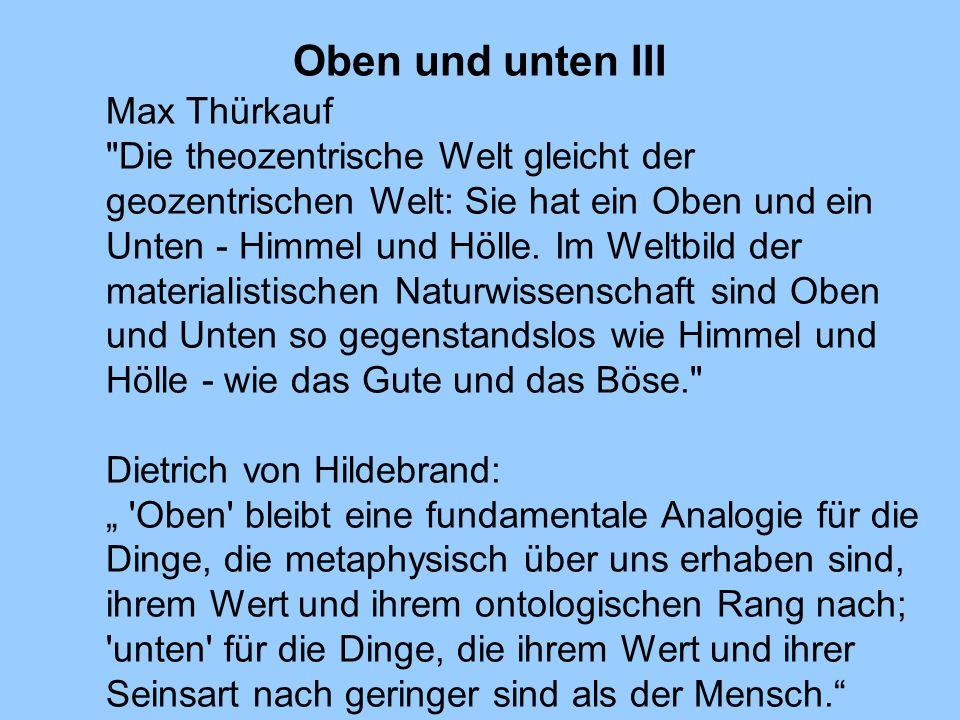 Oben und unten III Max Thürkauf