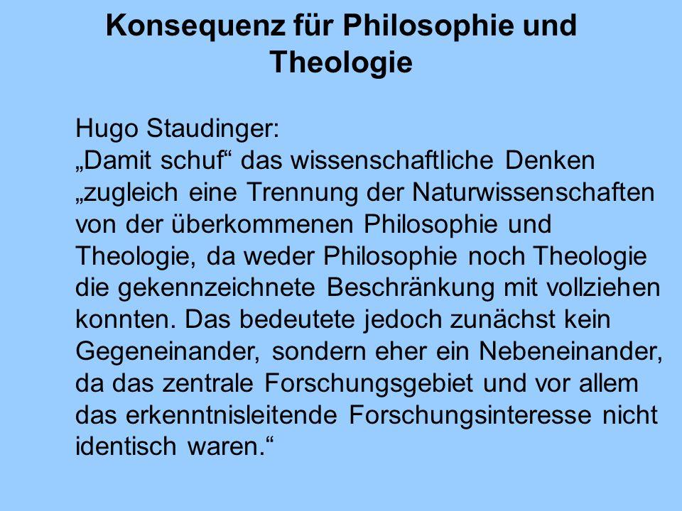 Konsequenz für Philosophie und Theologie