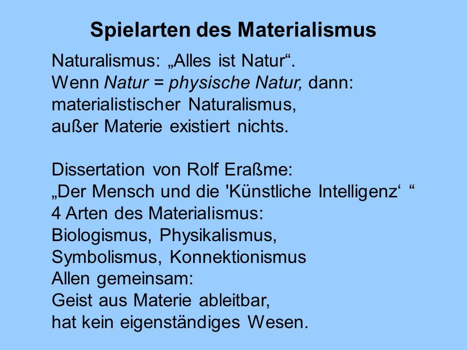 Spielarten des Materialismus