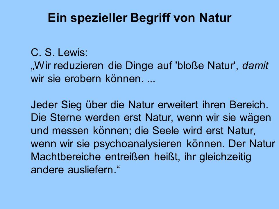 Ein spezieller Begriff von Natur