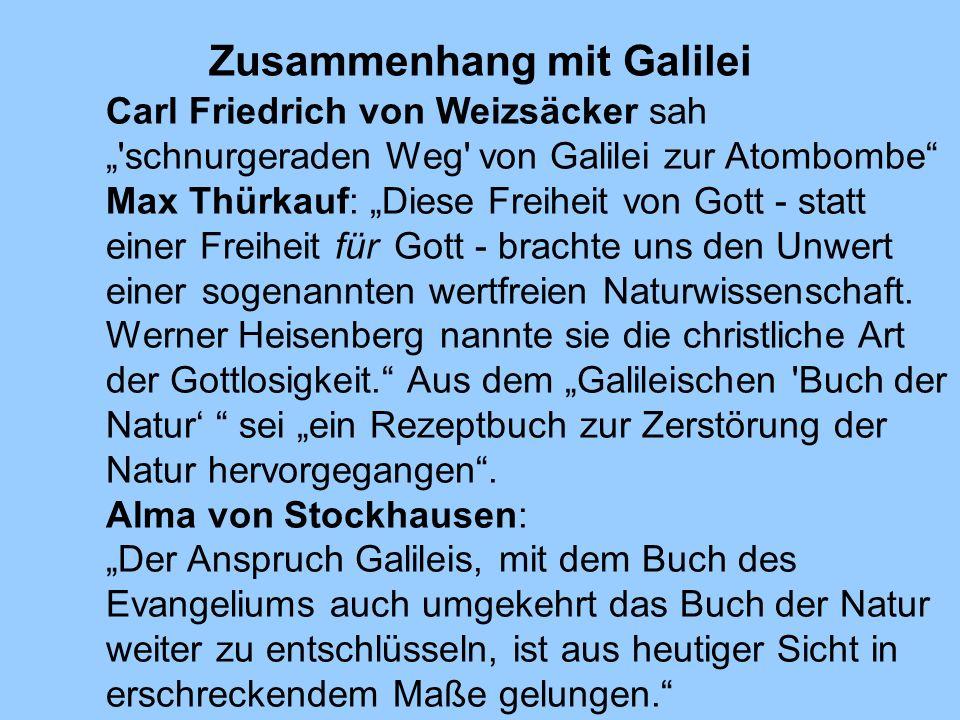 Zusammenhang mit Galilei