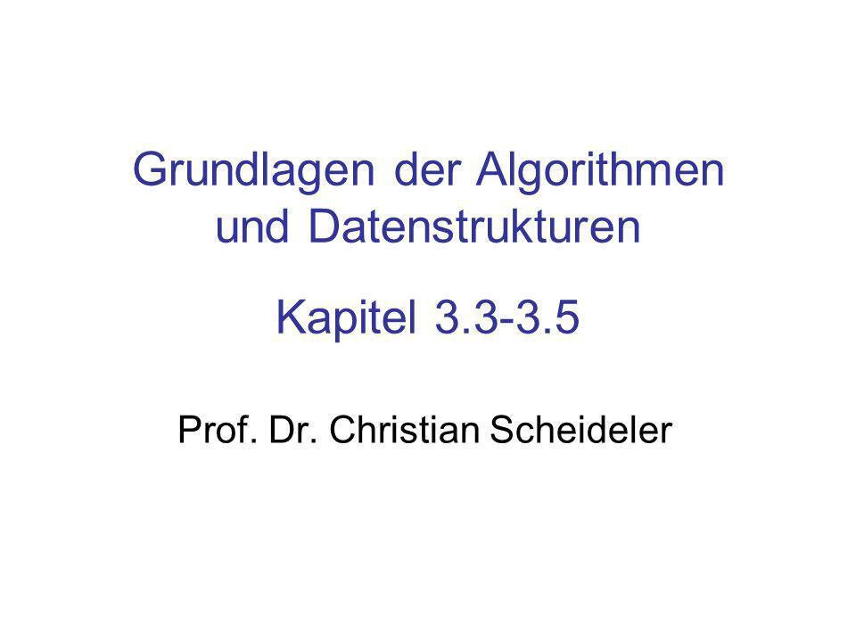 Grundlagen der Algorithmen und Datenstrukturen Kapitel 3.3-3.5