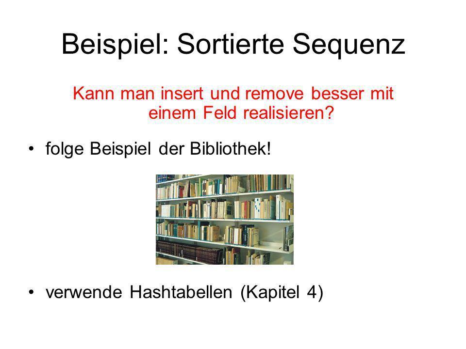 Beispiel: Sortierte Sequenz