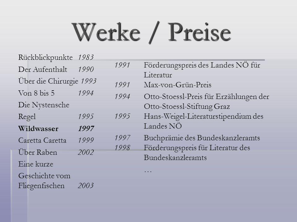Werke / Preise Rückblickpunkte 1983 Der Aufenthalt 1990