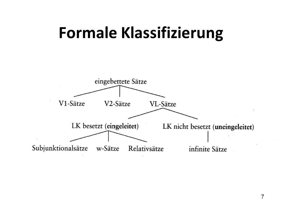 Formale Klassifizierung