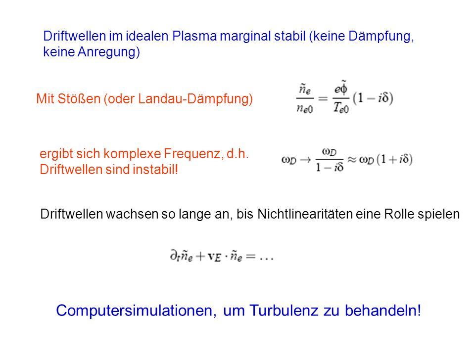 Computersimulationen, um Turbulenz zu behandeln!