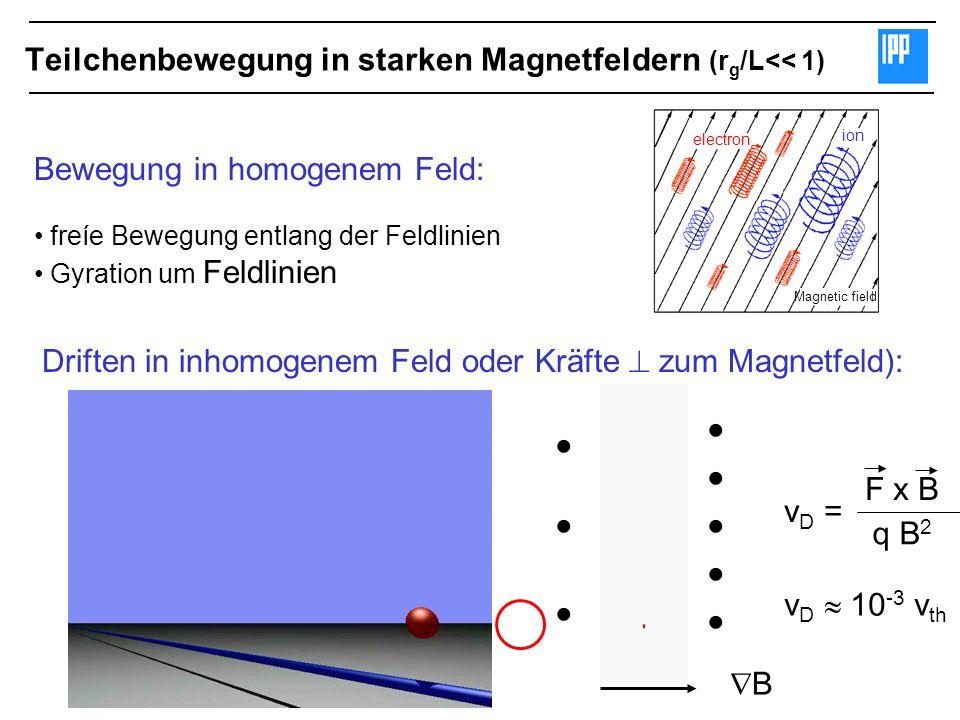 Teilchenbewegung in starken Magnetfeldern (rg/L<< 1)