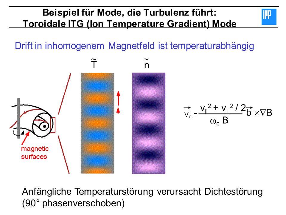 Drift in inhomogenem Magnetfeld ist temperaturabhängig   T n
