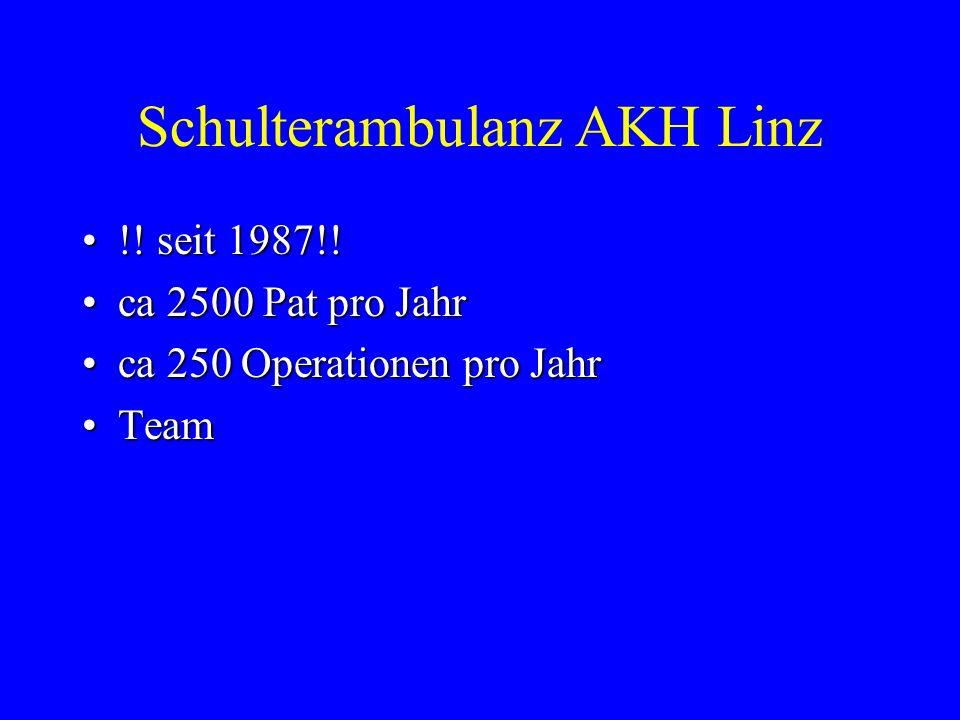 Schulterambulanz AKH Linz