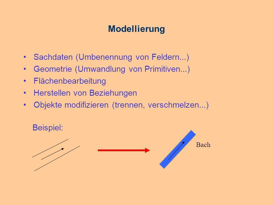 Modellierung Sachdaten (Umbenennung von Feldern...)