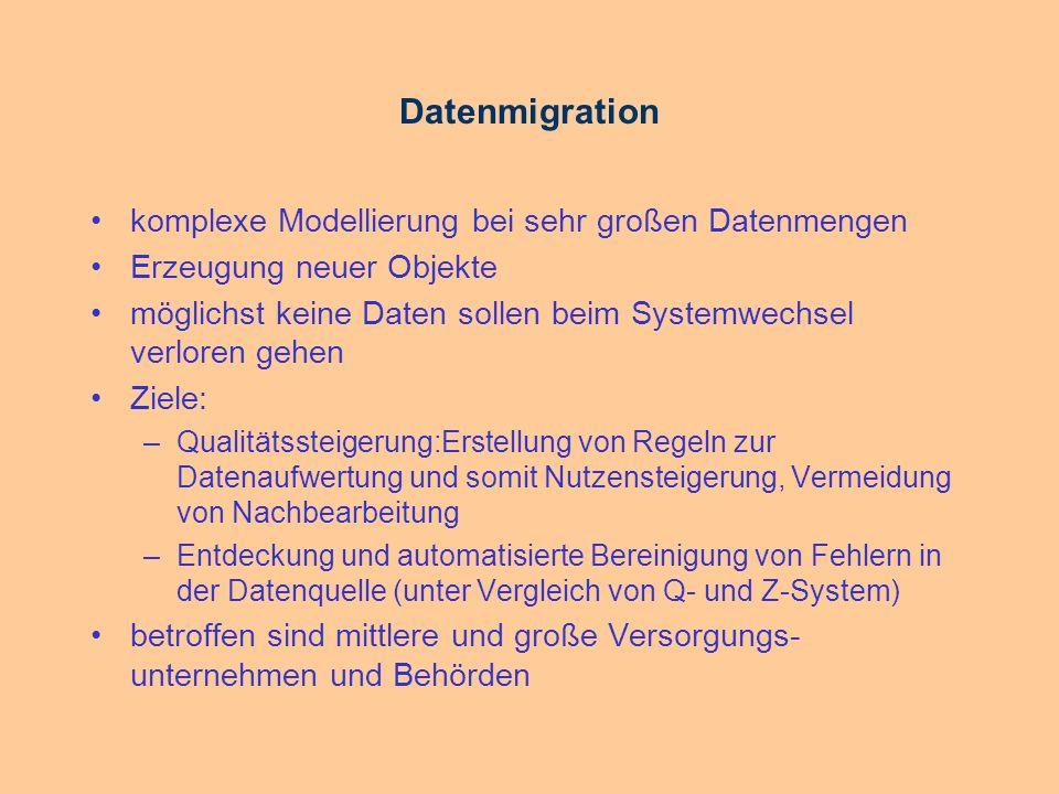 Datenmigration komplexe Modellierung bei sehr großen Datenmengen