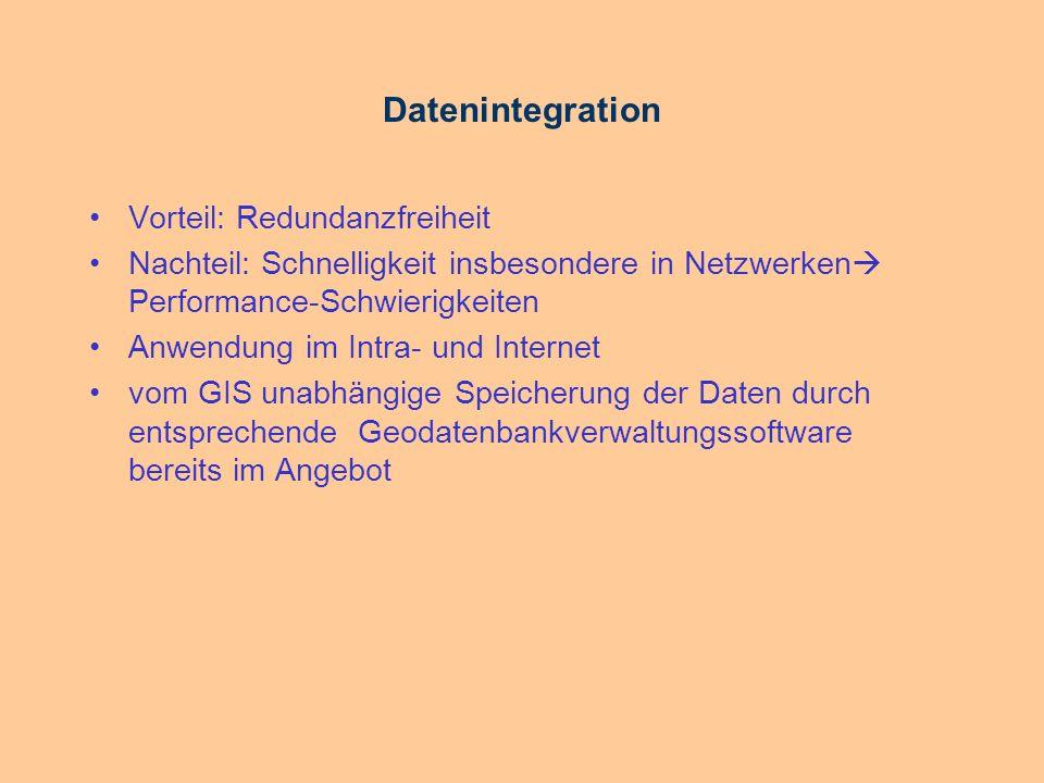Datenintegration Vorteil: Redundanzfreiheit