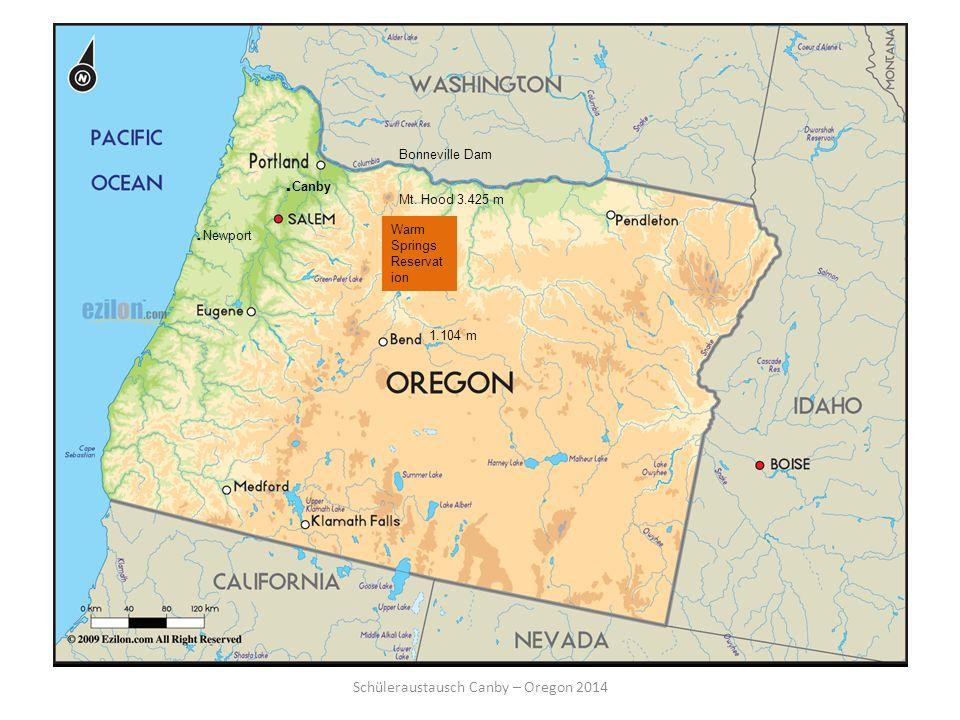 Schüleraustausch Canby – Oregon 2014