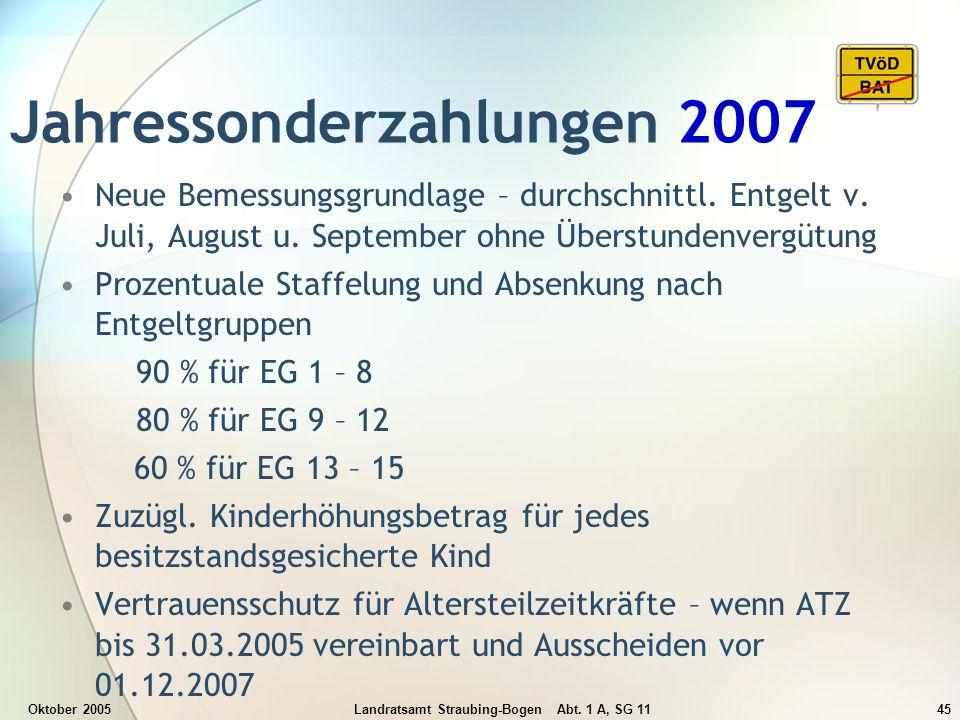 Jahressonderzahlungen 2007