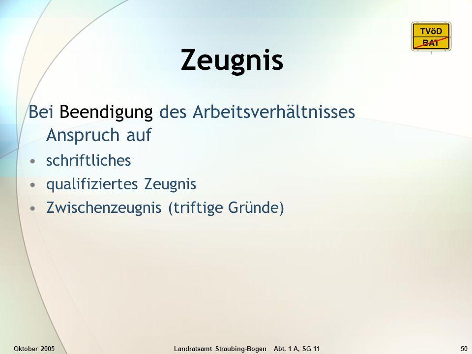Landratsamt Straubing-Bogen Abt. 1 A, SG 11