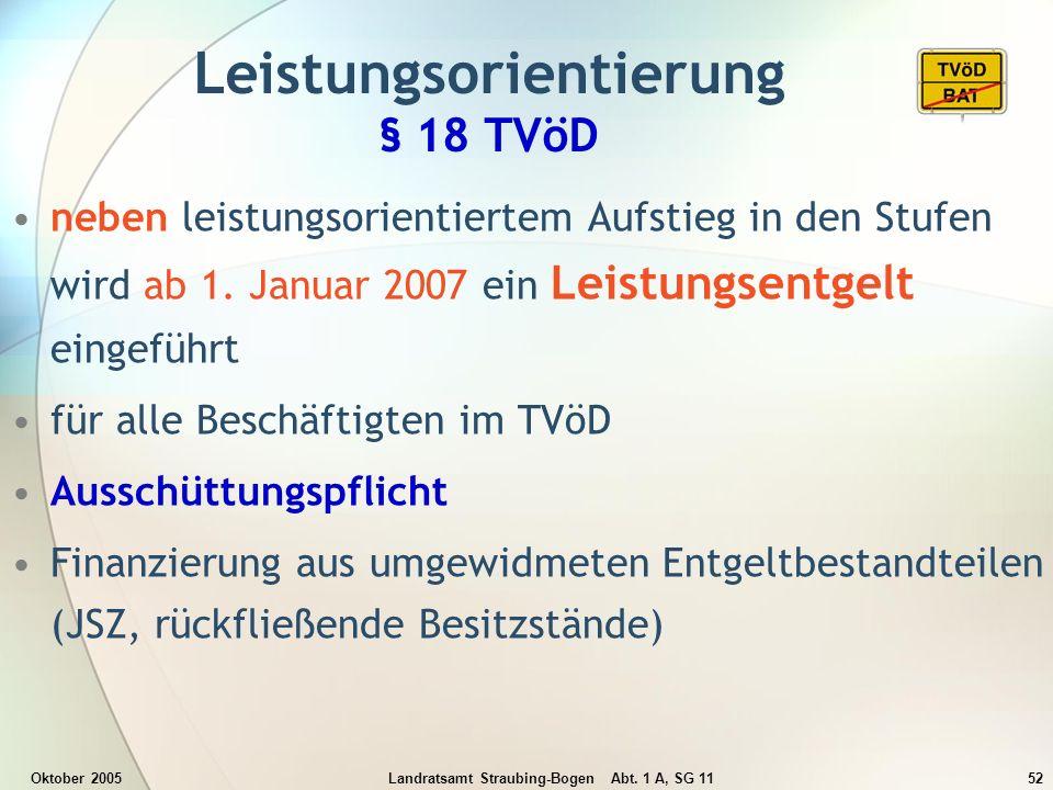 Leistungsorientierung § 18 TVöD